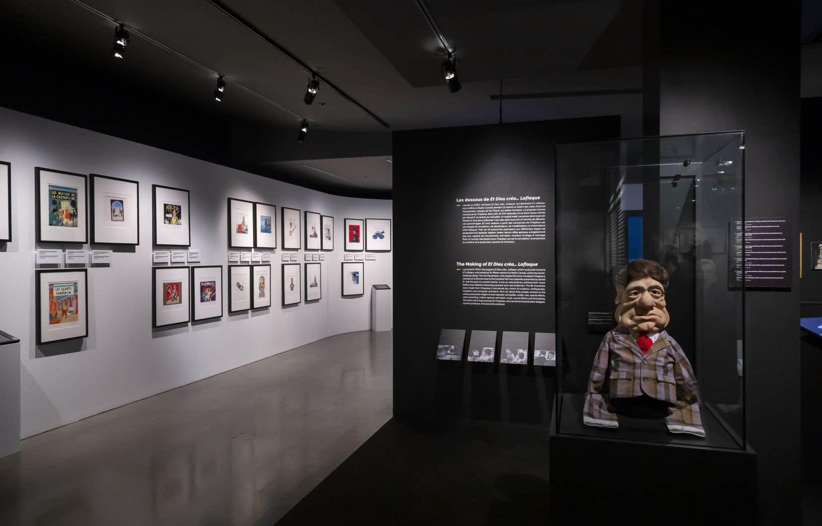L'exposition présente 150œuvres, caricatures, esquisses et illustrations originales.