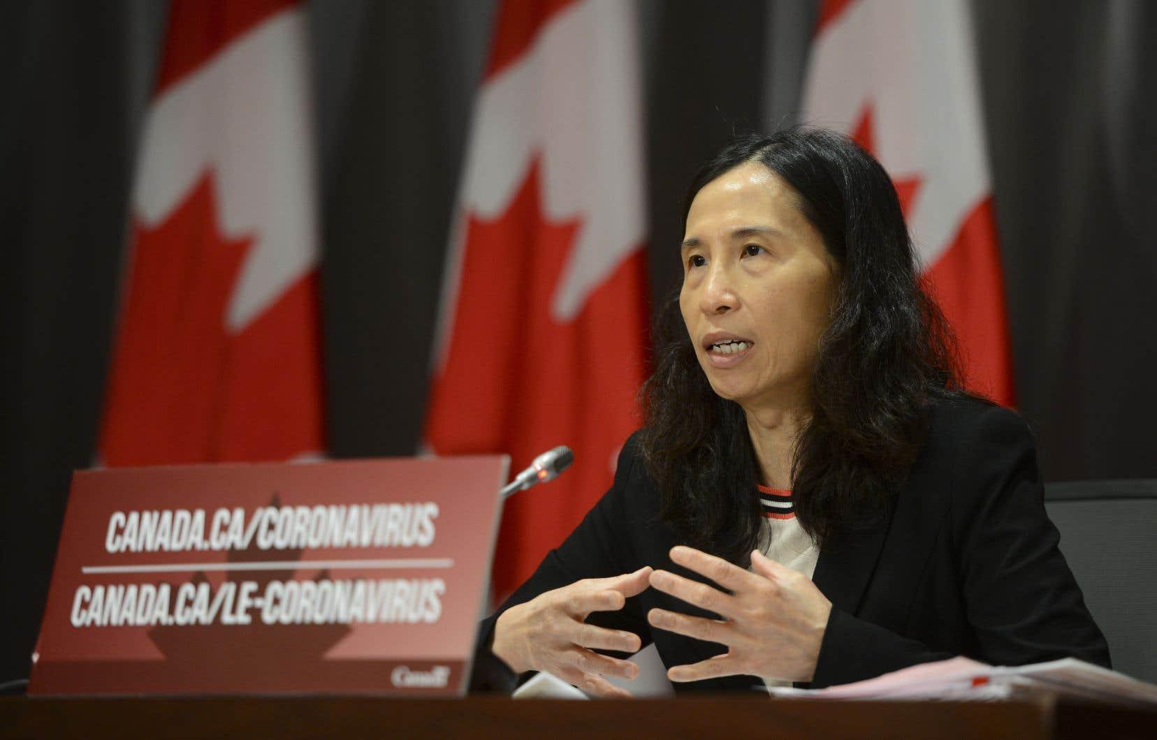L'administratrice en chef de la santé publique du Canada,la DreTheresa Tam