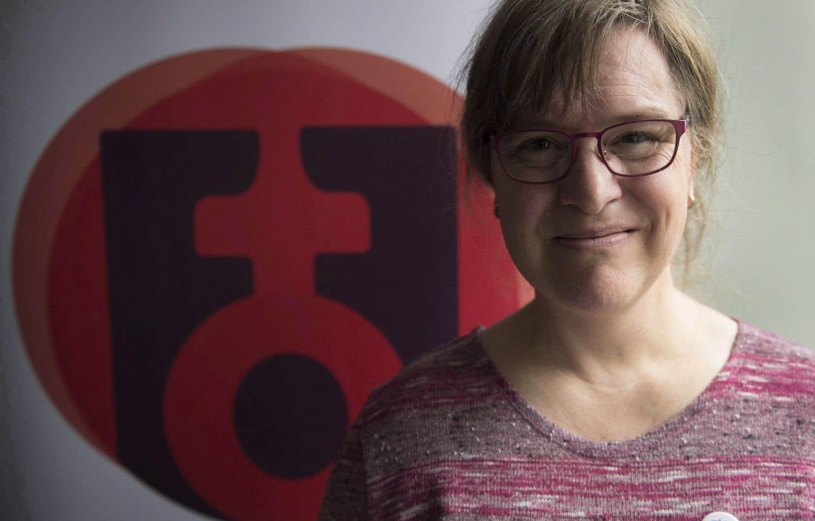 Gabrielle Bouchard a été la première femme trans à occuper le poste de présidente de la Fédération des femmes du Québec.