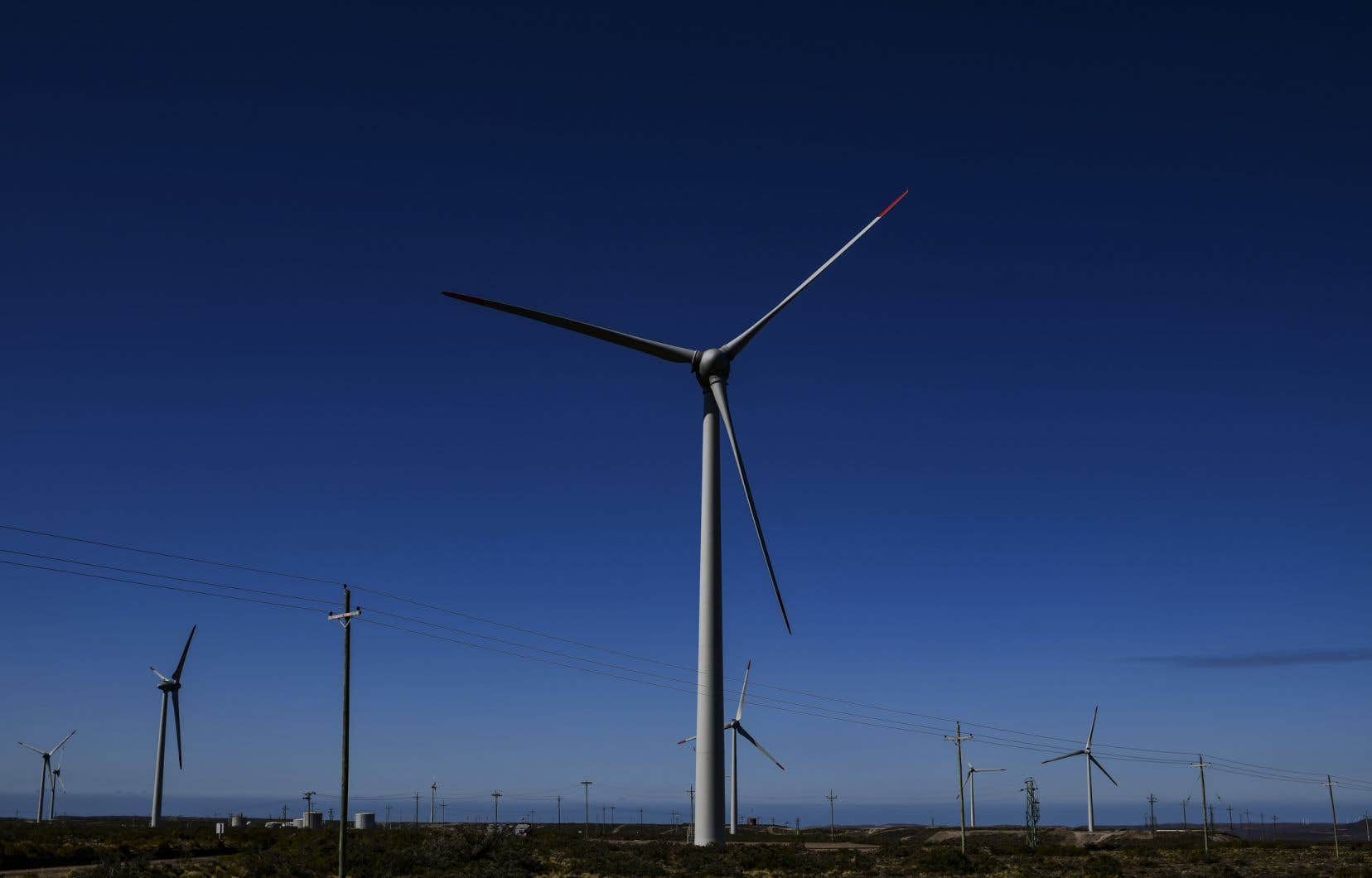 Une éolienne en Patagonie
