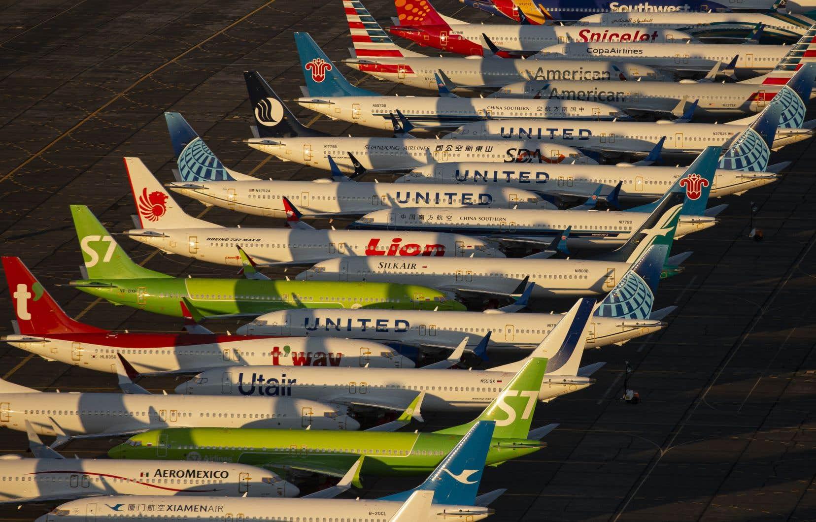Le 737 MAX est cloué au sol depuis le 13mars 2019, après l'écrasement d'un exemplaire de la compagnie Ethiopian Airlines ayant fait 157 mort.