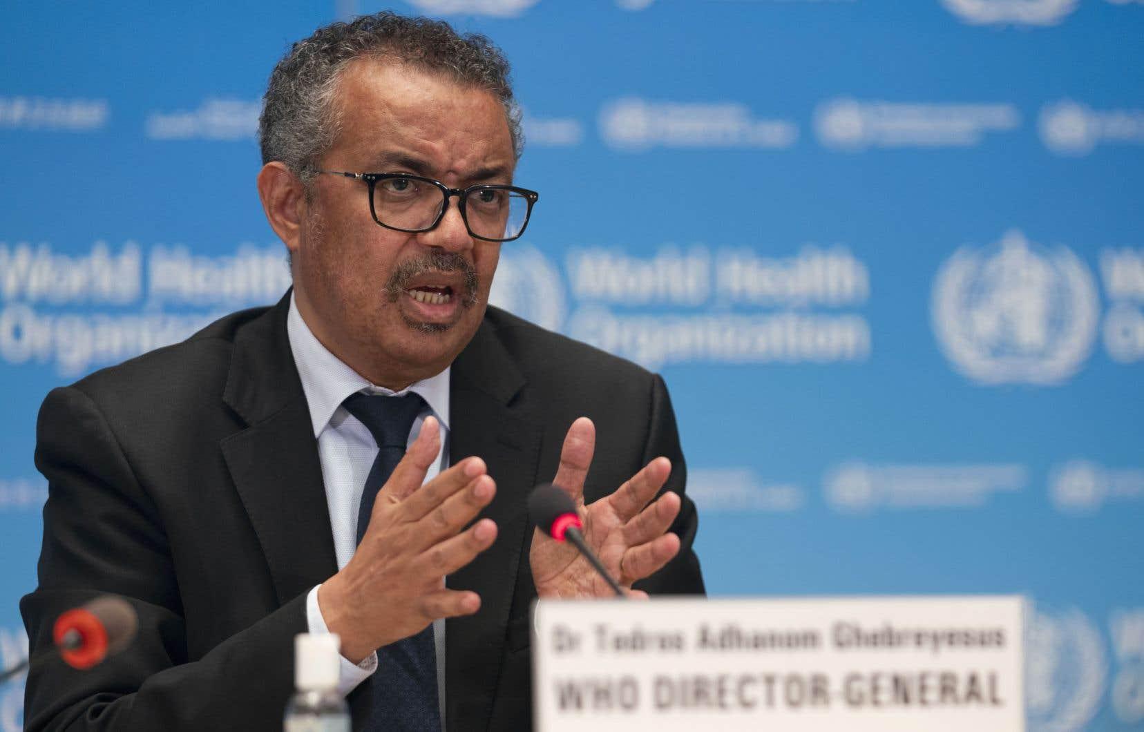 «60% de tous les cas de COVID-19 recensés jusqu'à présent ont été signalés au cours du mois dernier», a souligné le directeur général de l'OMS, Tedros Adhanom Ghebreyesus.