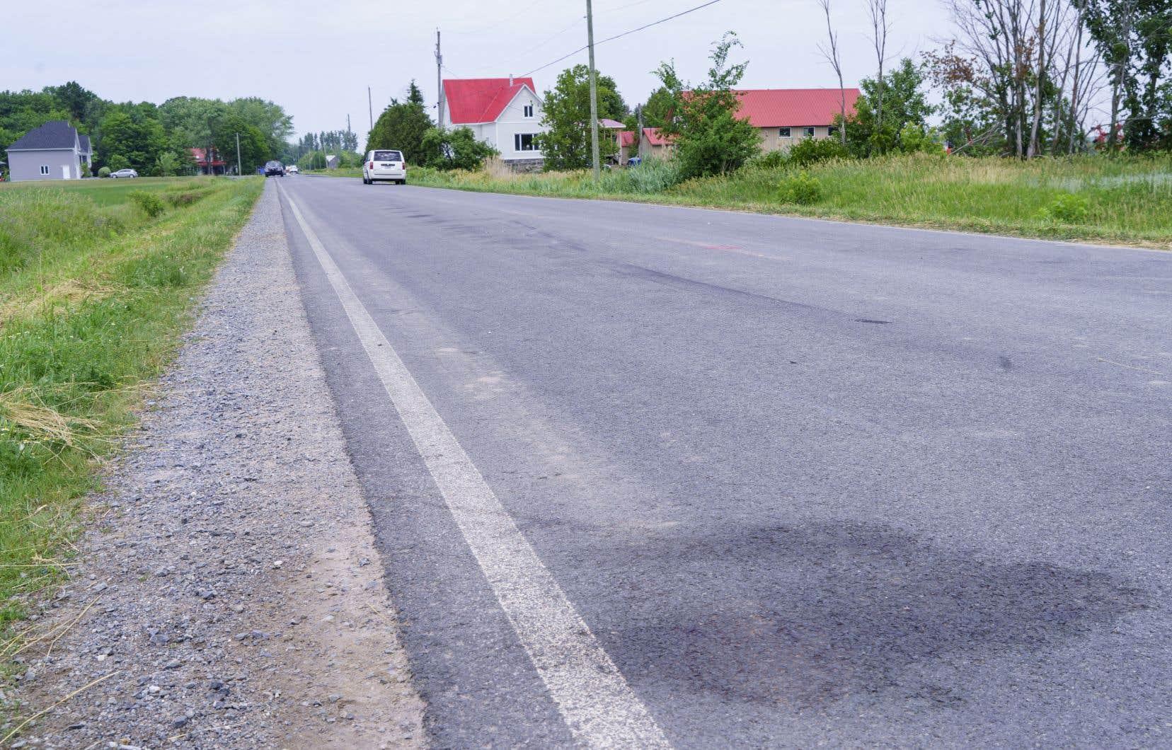 L'accident s'est produit peu avant 19h00 sur le rang Sainte-Anne, àNotre-Dame-de-Stanbridge.