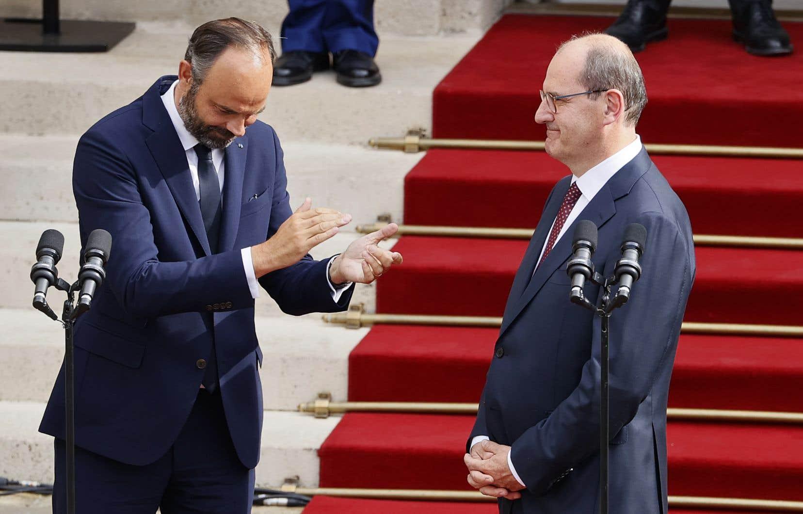 La passation des pouvoirs entre Édouard Philippe et Jean Castex s'est faite dans la plus grande cordialité.