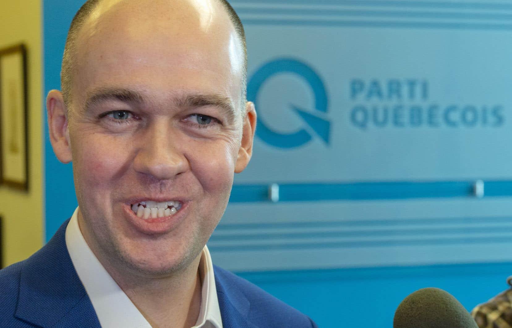 Le candidatà la direction du Parti québécois Guy Nantel