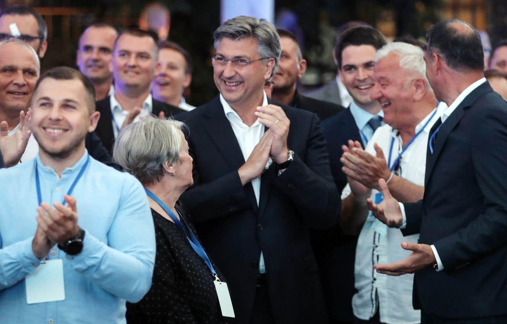 Le premier ministre croate, Andrej Plenkovic, a été réélu, dimanche.