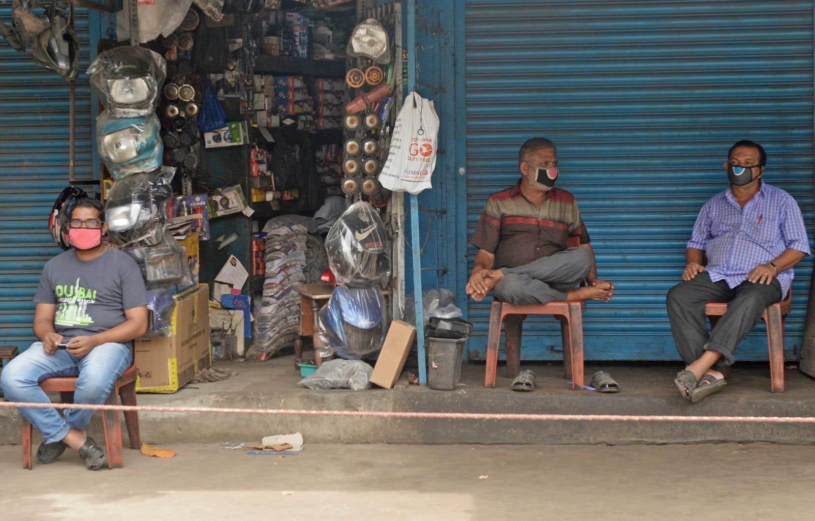La propagation du virus est particulièrement virulente dans les grandes villes indiennes de Bombay, Delhi et Chennai (en photo).