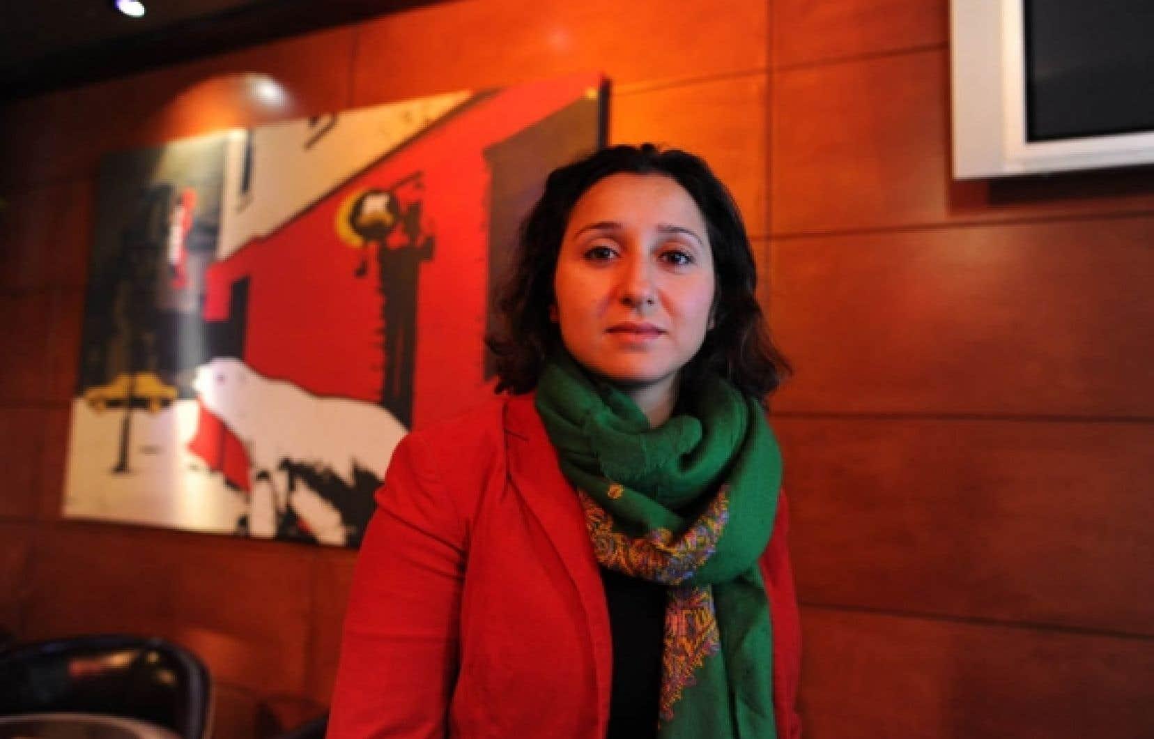 Sihem Habchi, présidente de l'association française féministe Ni putes ni soumises, était de passage à Montréal hier.
