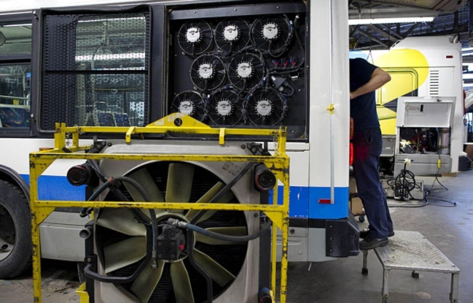Le nouveau système de refroidissement permettra à la STM de diminuer ses émissions de gaz à effet de serre de 12 000 tonnes de CO2 par année.<br />