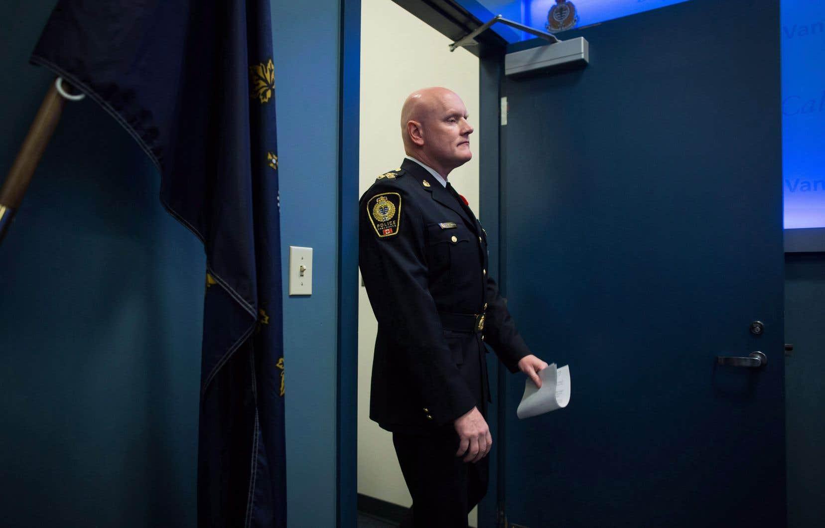 Le chef de la Police de Vancouver, Adam Palmer, président de l'Association canadienne des chefs de police