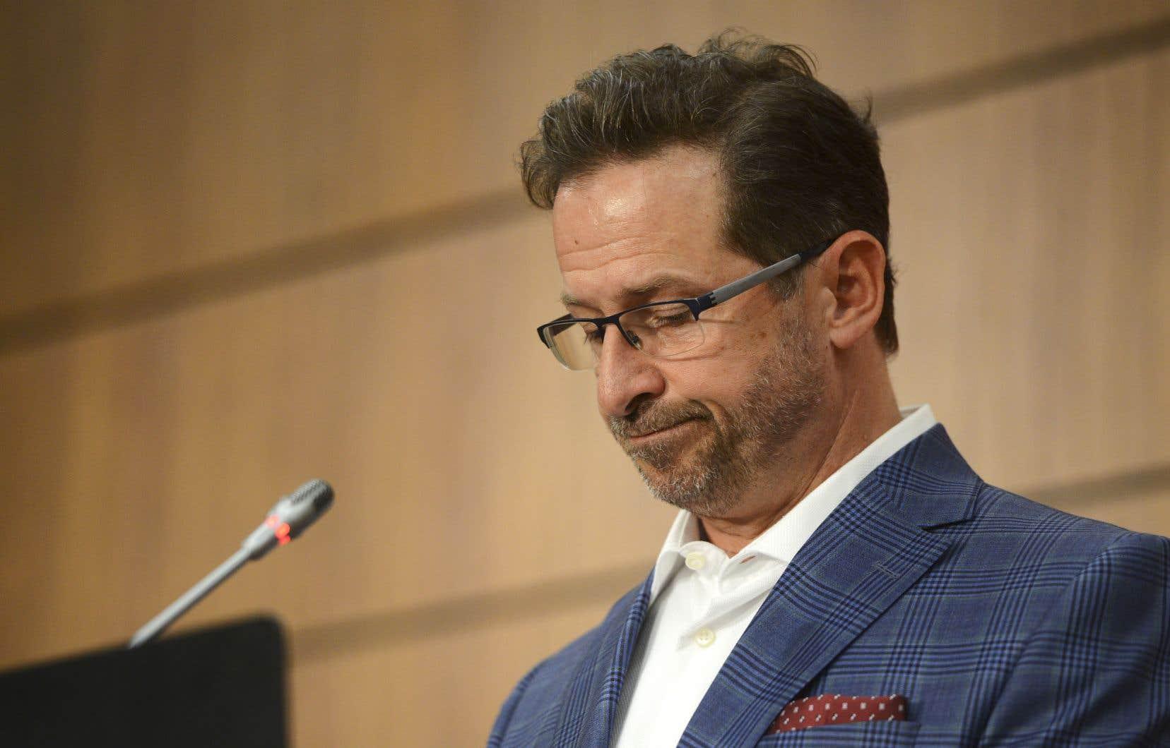 Le chef du Bloc québécois, Yves-François Blanchet, n'a pas voulu ajouter quelque commentaire que ce soit au communiqué de presse diffusé plus tôt par son parti.