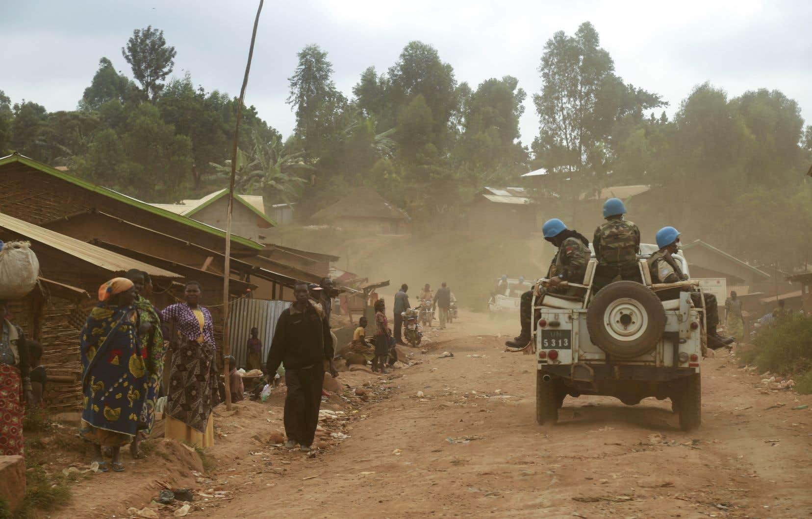 Les Casques bleus de la MINUSCO (Mission de l'Organisation des Nations unies pour la stabilisation en République démocratique du Congo) interviennent en Ituri.