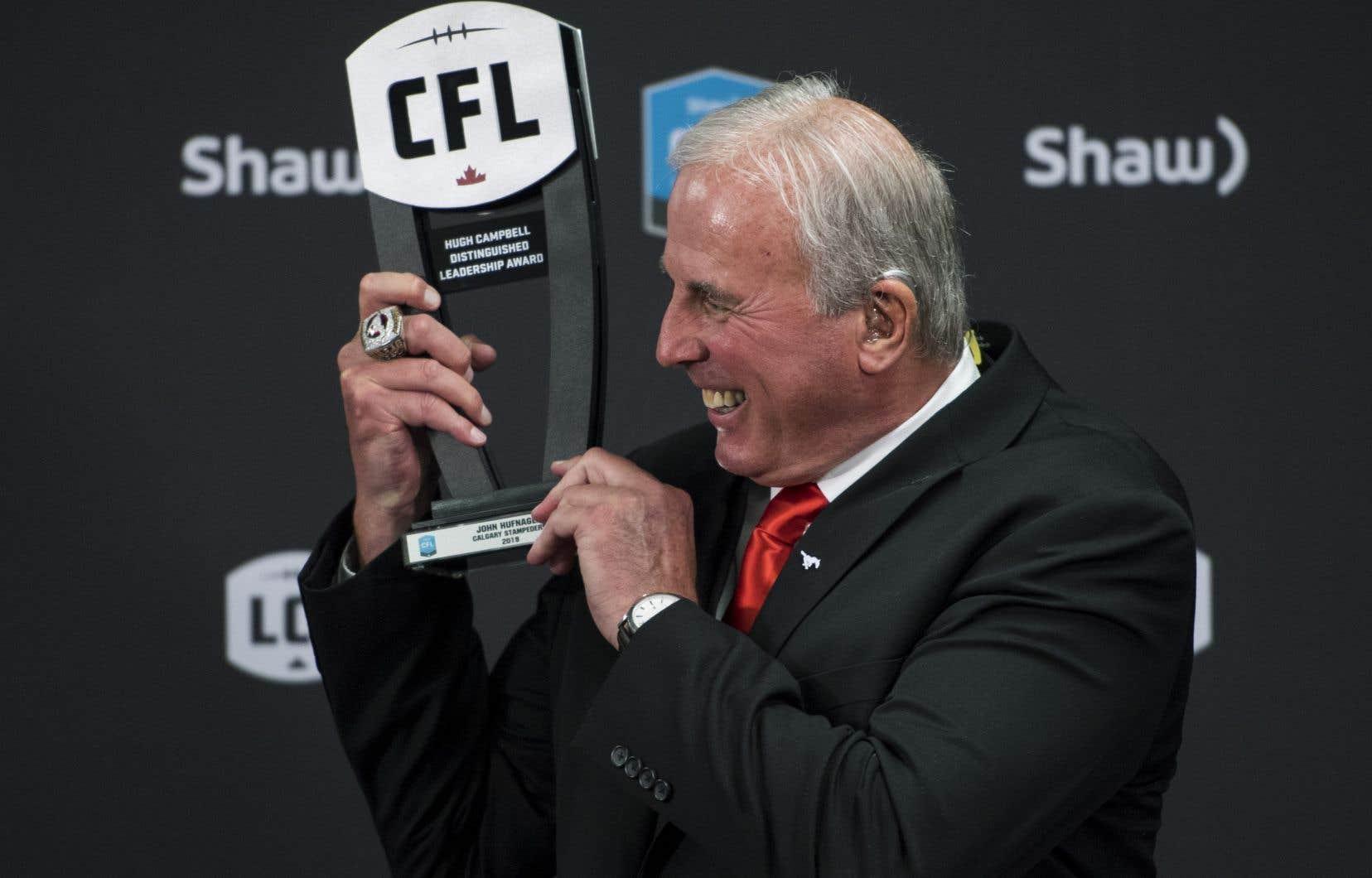 L'ancien entraîneur-chef et actuel président et directeur général des Stampeders de Calgary, John Hufnagel