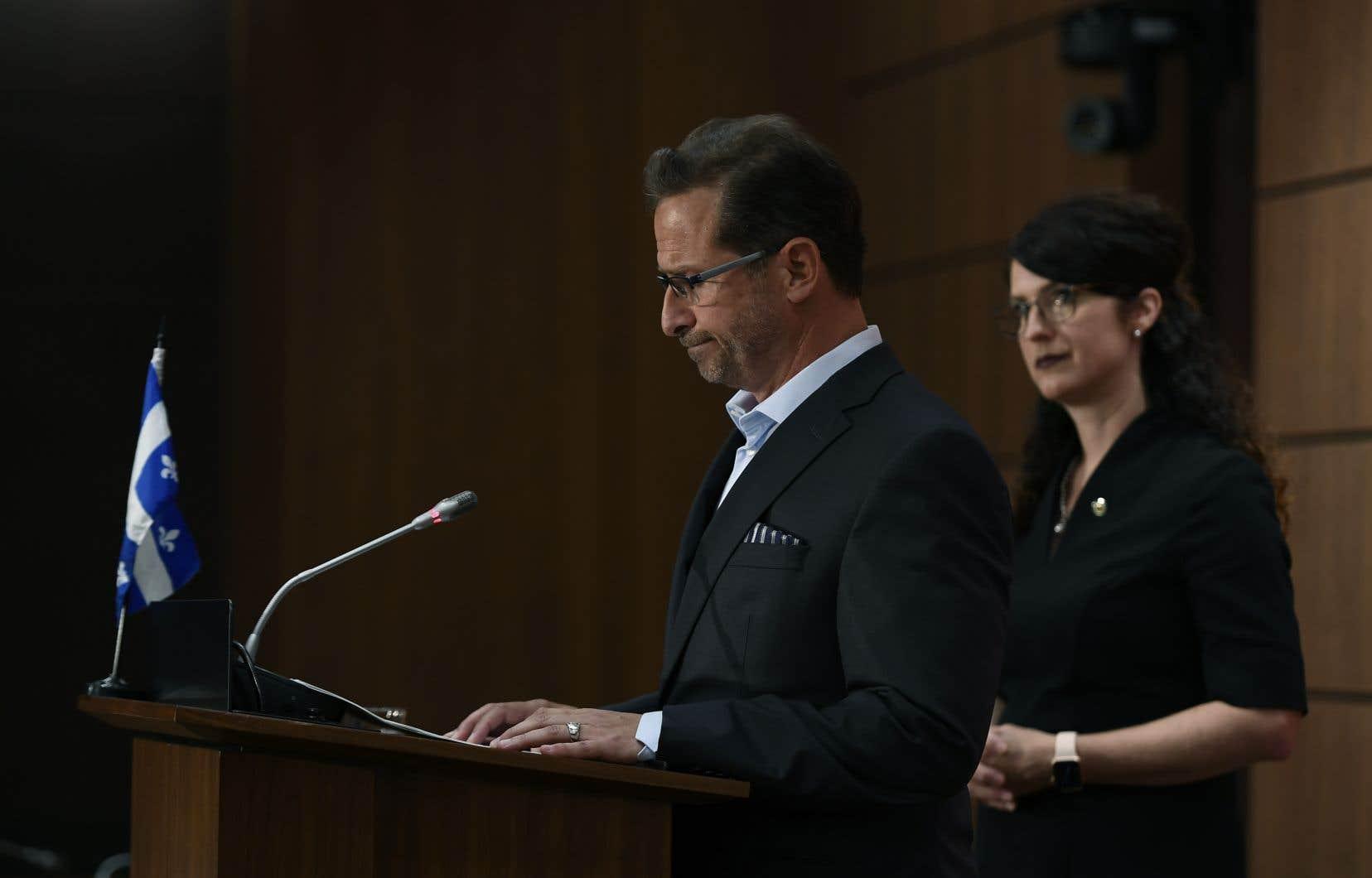 Le chef du Bloc québécois, Yves-François Blanchet, a affirmé avoir toujours eu un comportement «irréprochable» à l'endroit des femmes.