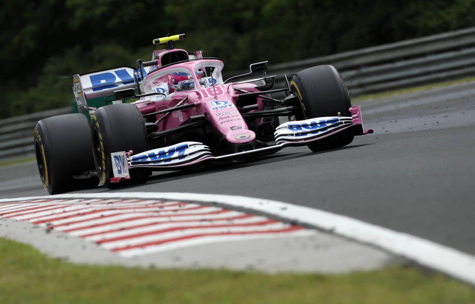Le Québécois Lance Stroll a terminé quatrième lors du Grand Prix de Formule 1 de Hongrie, remporté par le Britannique Lewis Hamilton.