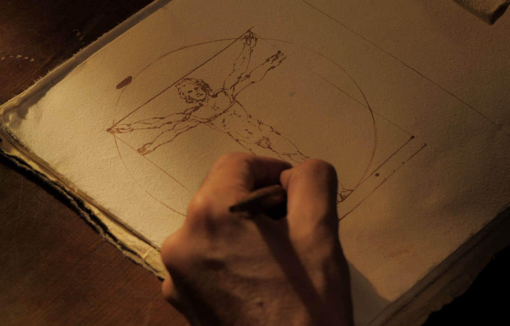 Scène tirée du documentaire«Léonard de Vinci, l'homme en mouvement»