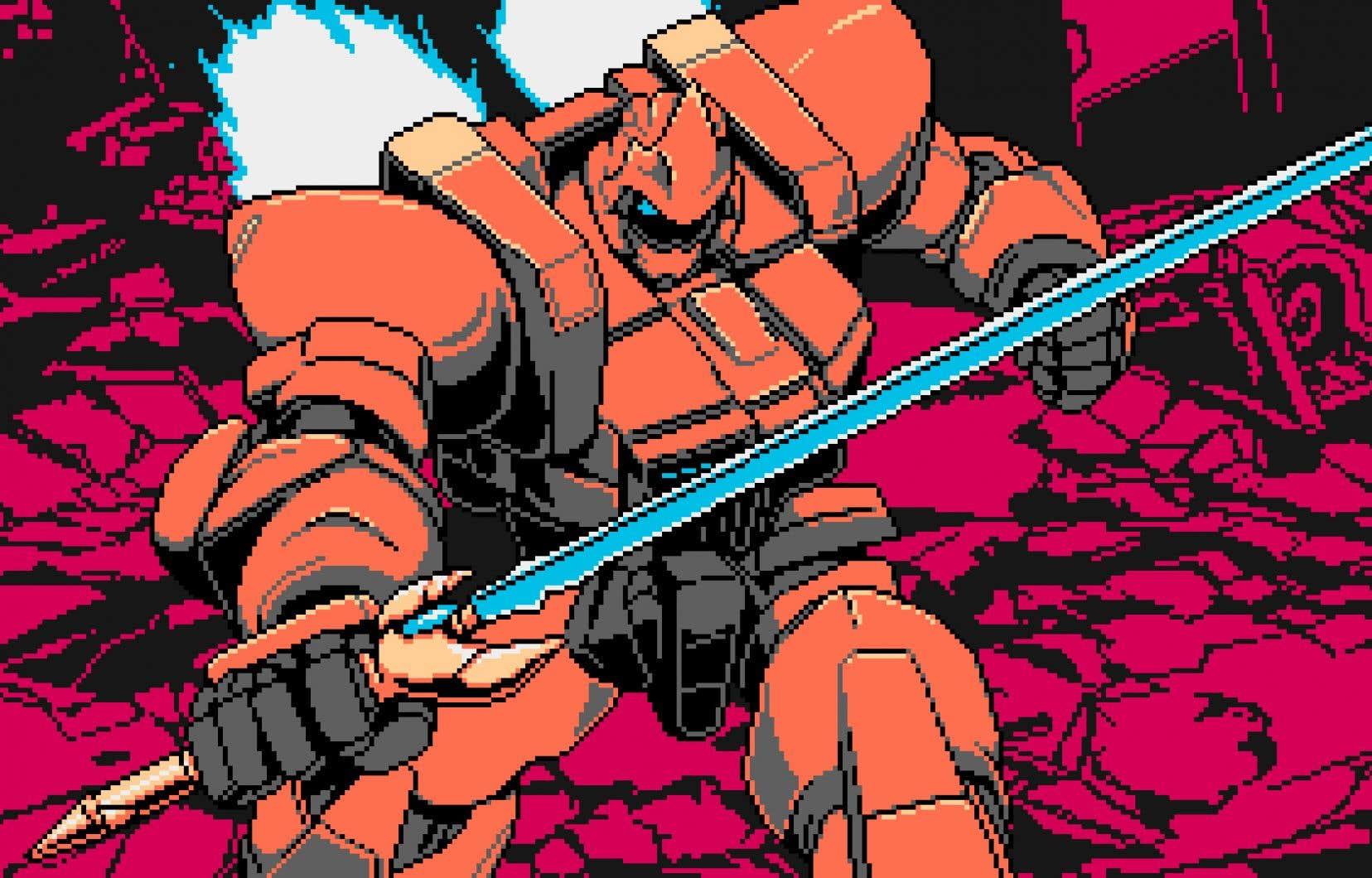 Le jeu est en deux dimensions avec vue de côté et partage l'esthétique des jeux de l'ère Nintendo Entertainment System.