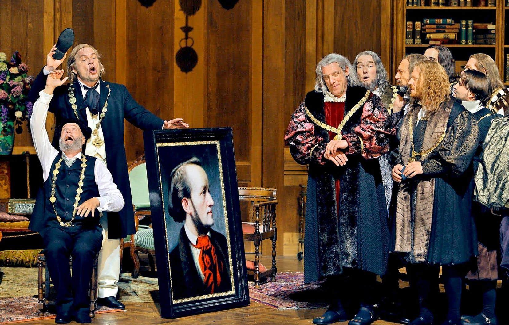 «DG Stage» monte en puissance, avec le début de son Festival de Bayreuth virtuel. Le coup d'envoi est pour samedi avec la très remarquée mise en scène de Barrie Kosky des «Maîtres-chanteurs» (2017), mettant en exergue l'antisémitisme du compositeur.