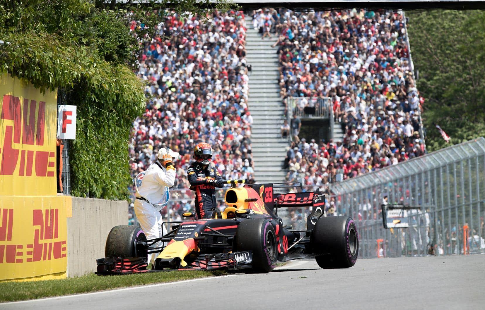 Sans la possibilité d'accueillir un public, le Grand Prix du Canada n'était pas viable, selon ses organisateurs. Sur notre photo, le pilote de Red Bull Max Verstappen avait connu des ennuis sur le circuit Gilles-Villeneuve en 2017.