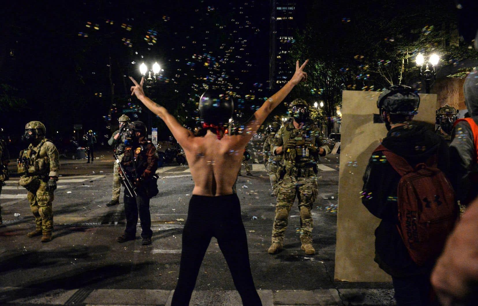 Le mouvement s'est amplifié à Portland lorsque des policiers fédéraux sont arrivés mi-juillet.