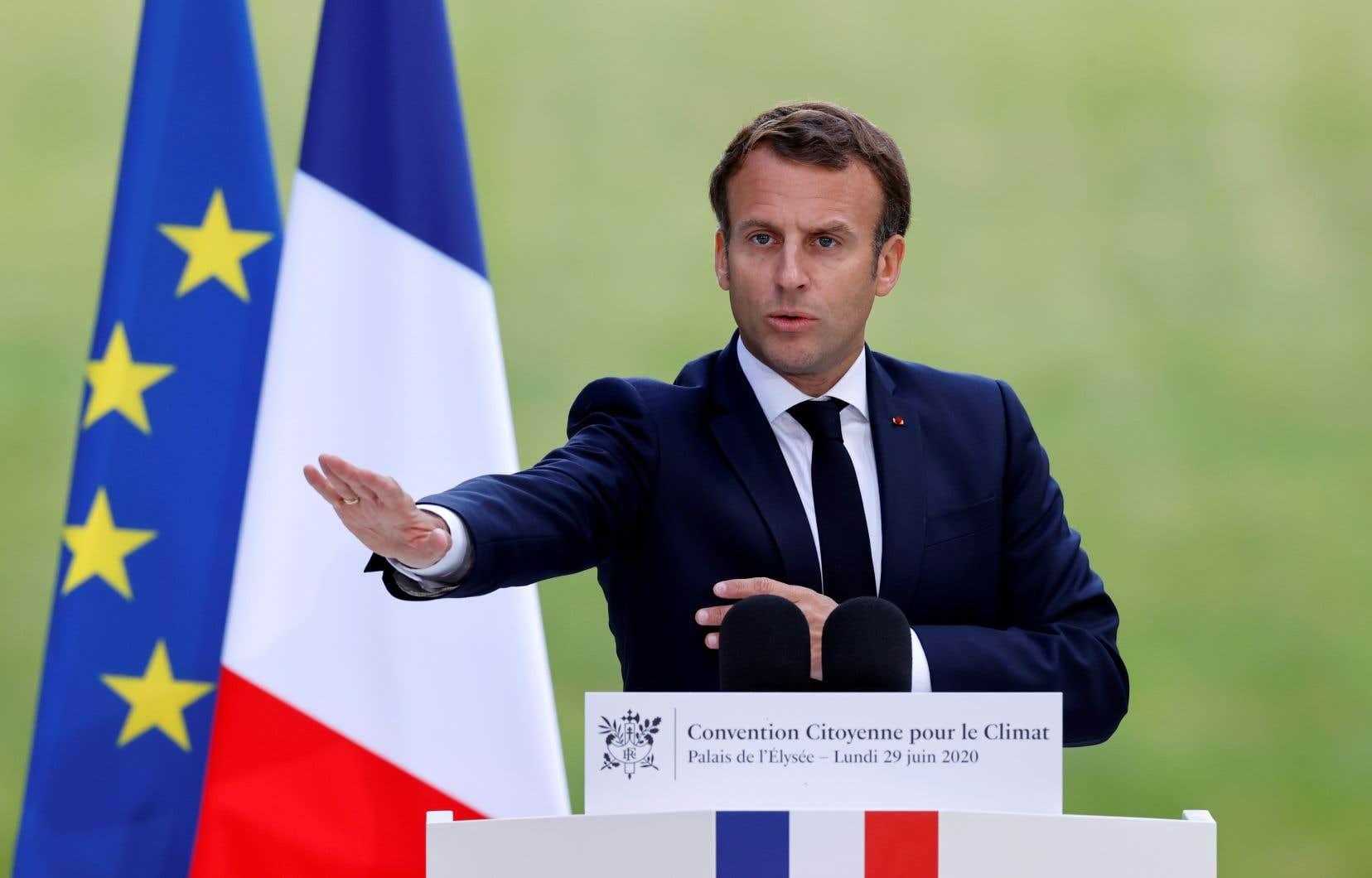 Le président français Emmanuel Macron a retenu la majorité des mesures proposées par les 150 personnes ayant participé à la «Convention citoyenne sur le climat».