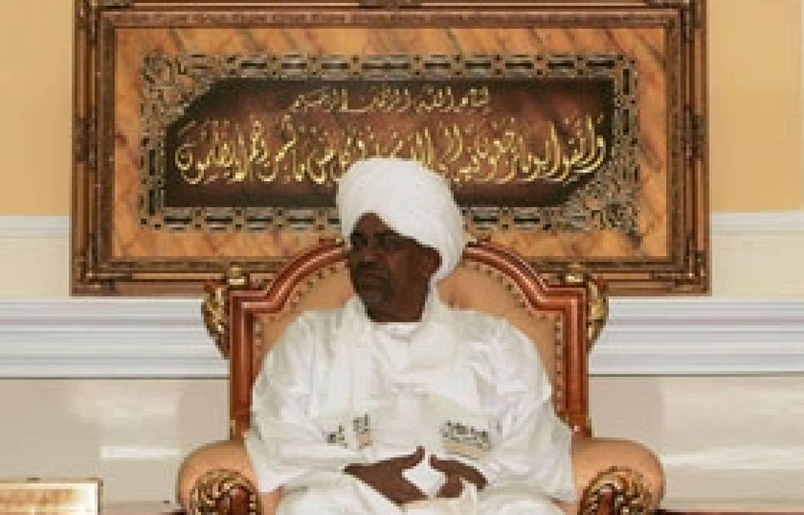 Le président soudanais Omar el-Béchir, hier