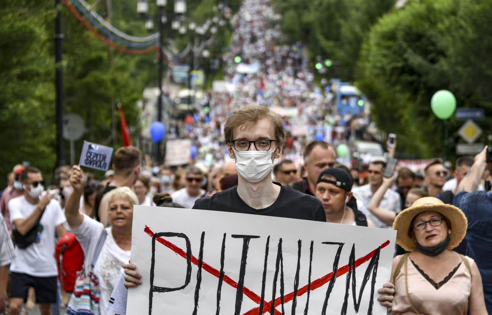 Depuis le 9 juillet, tous les samedis, les «dalniévostochniki», «ceux de l'Extrême-Orient» en russe, se rassemblent dans le centre de Khabarovsk pour protester contre l'arrestation de leur gouverneur, Sergueï Fourgal.