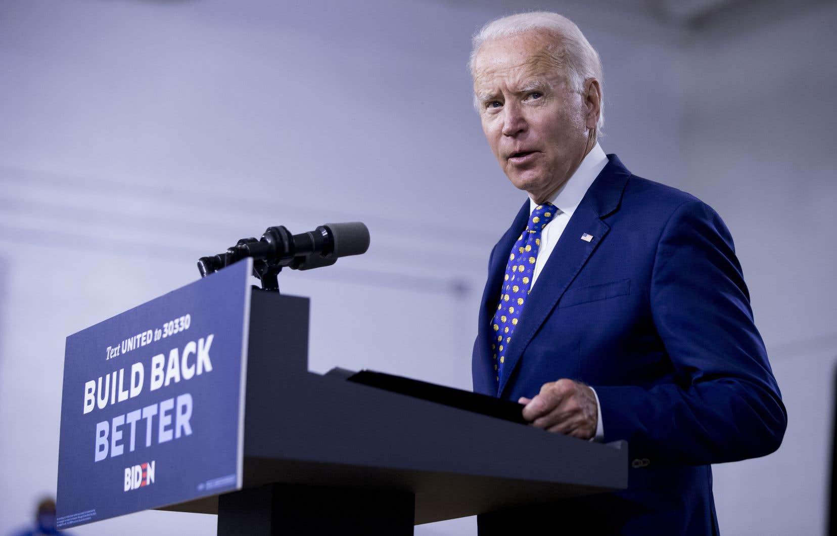 Le candidat démocrate Joe Biden devra dévoiler le nom de sa colistière d'ici au 17 août.