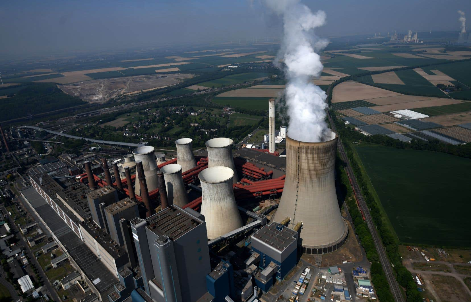 La centrale thermique de Niederaussem, en Allemagne.