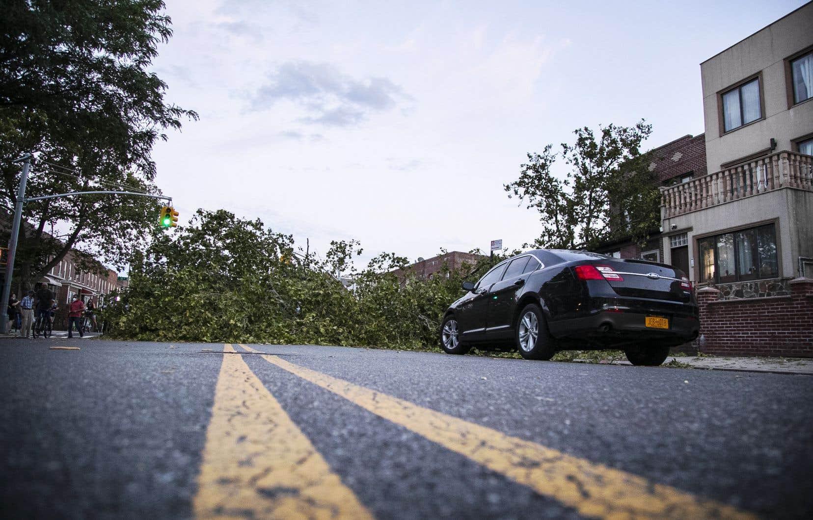 La tempête avait causé des dégâts importants à New York, mardi. Au Québec, aucune entrave majeur au réseau routier n'a été rapportée.