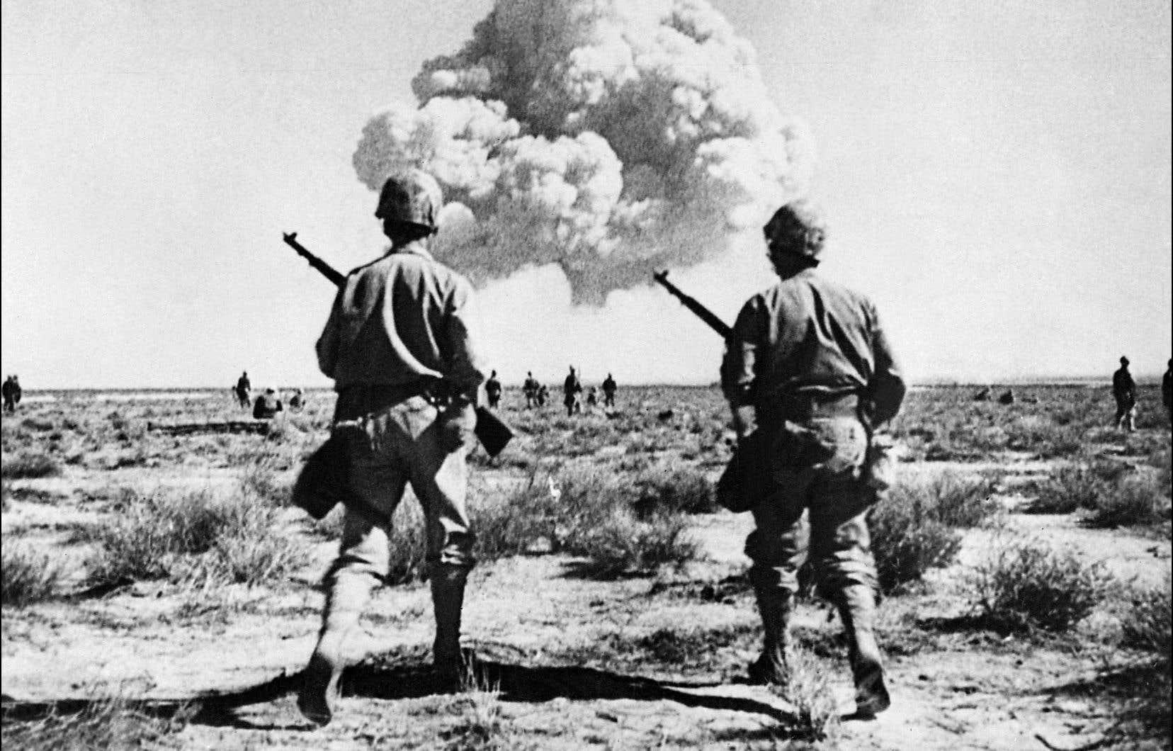 Un essai nucléaire américain, le 25 avril 1952