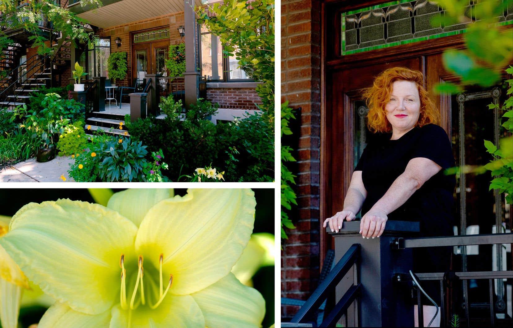 En s'installant au cœur de Montréal, Kathleen Fortin n'a pas fait une croix sur son amour du jardinage.