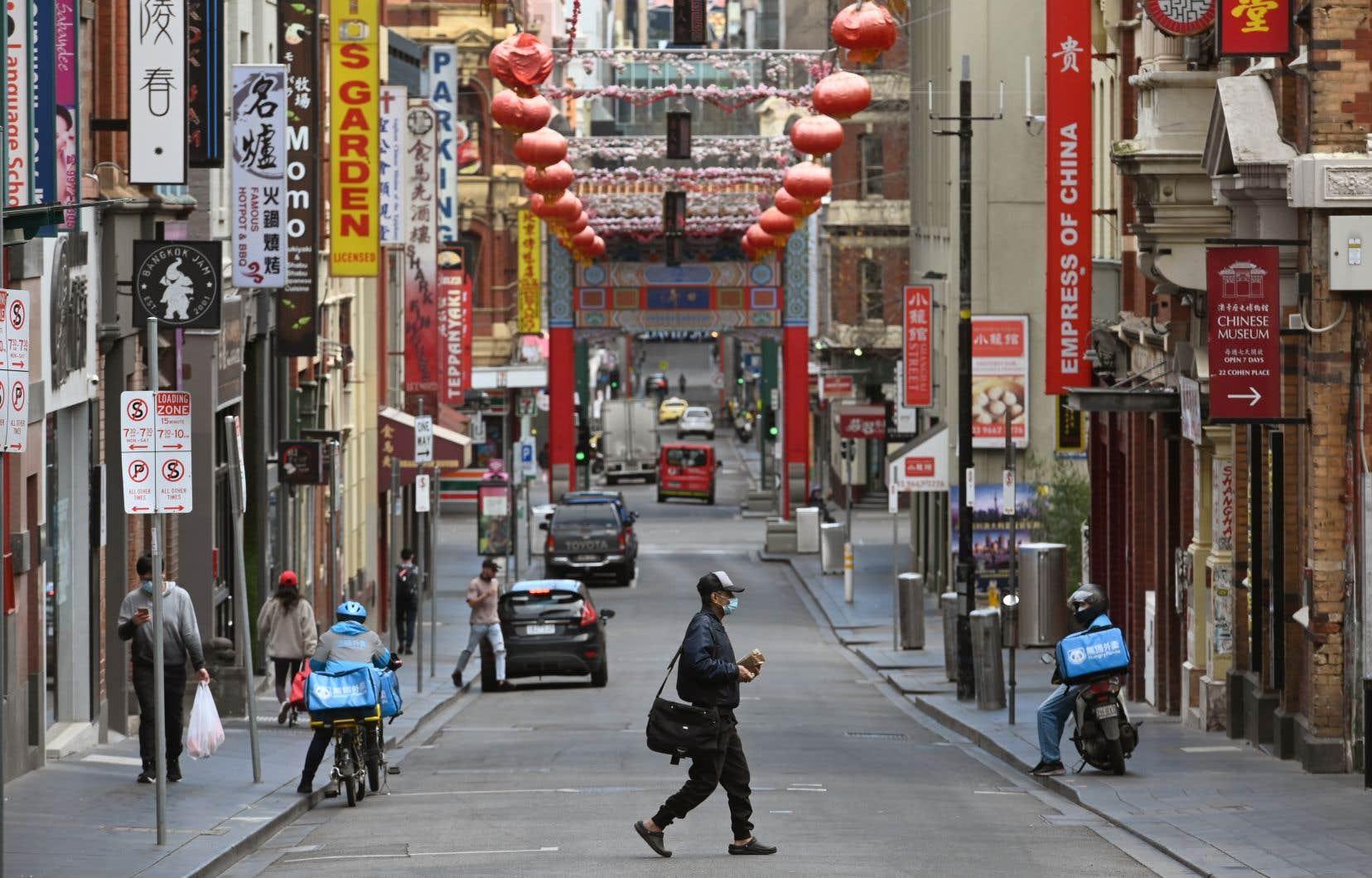 Le quartier chinois de Melbourne, en Australie