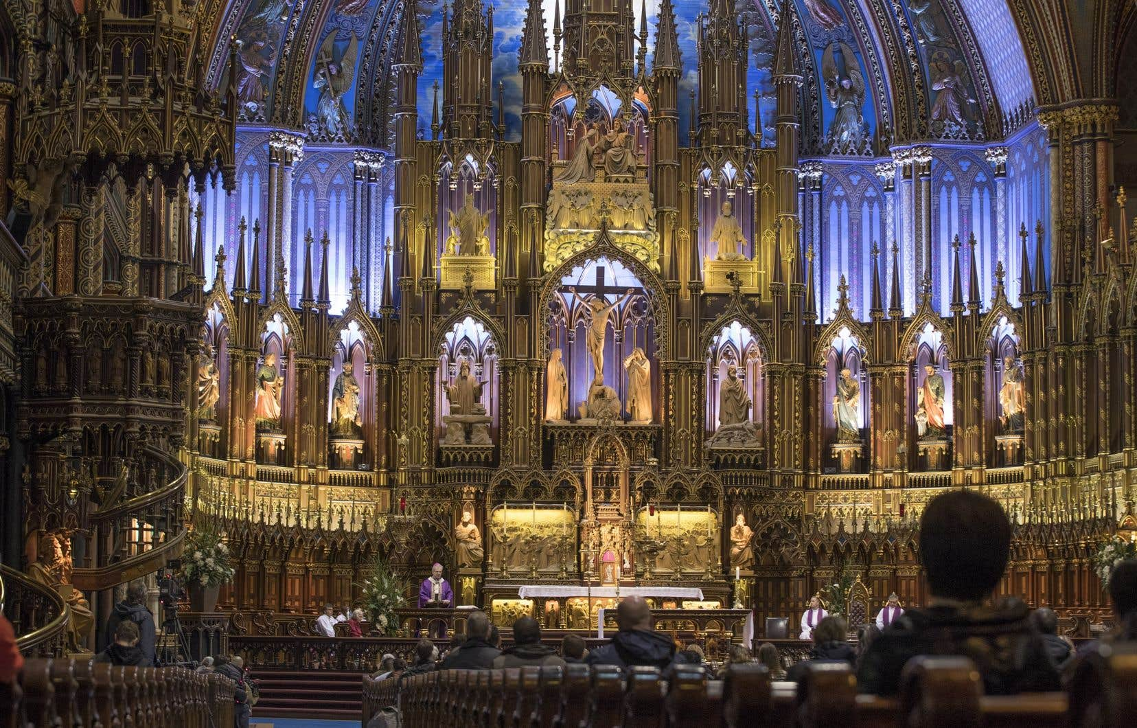 Habituellement, un million de visiteurs affluent chaque année à la basilique Notre-Dame de Montréal.
