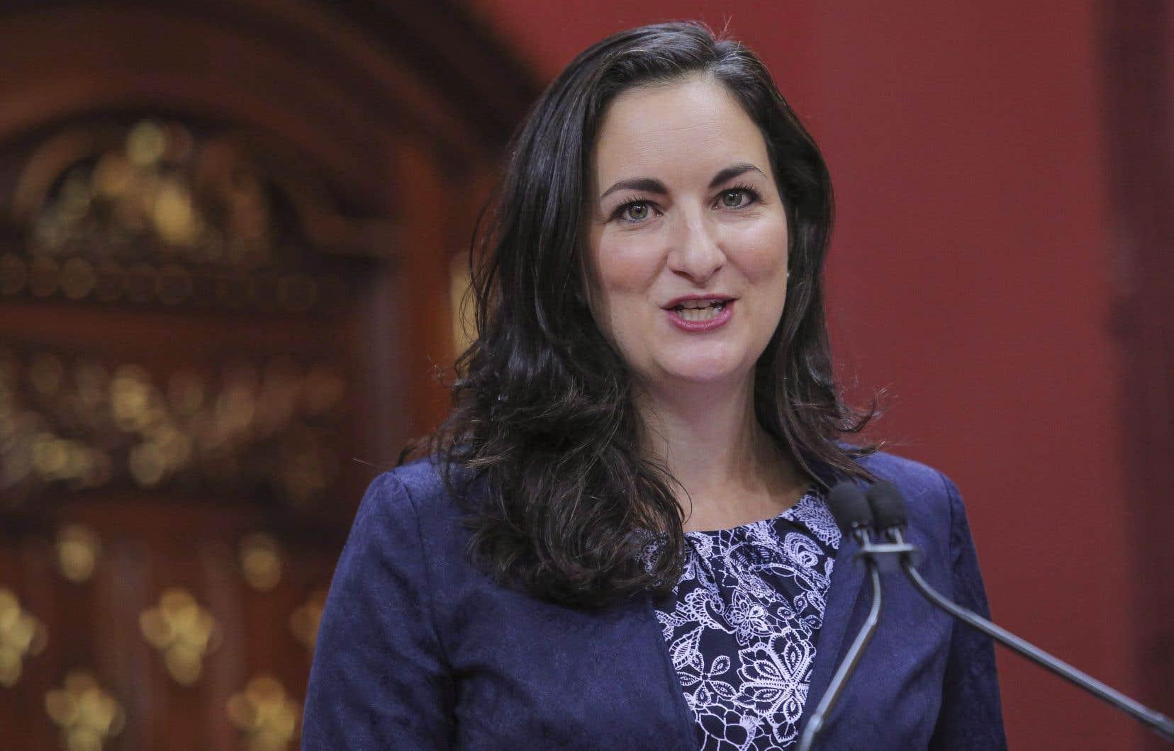 La députée libérale Marie Montpetit, porte-parole en santé