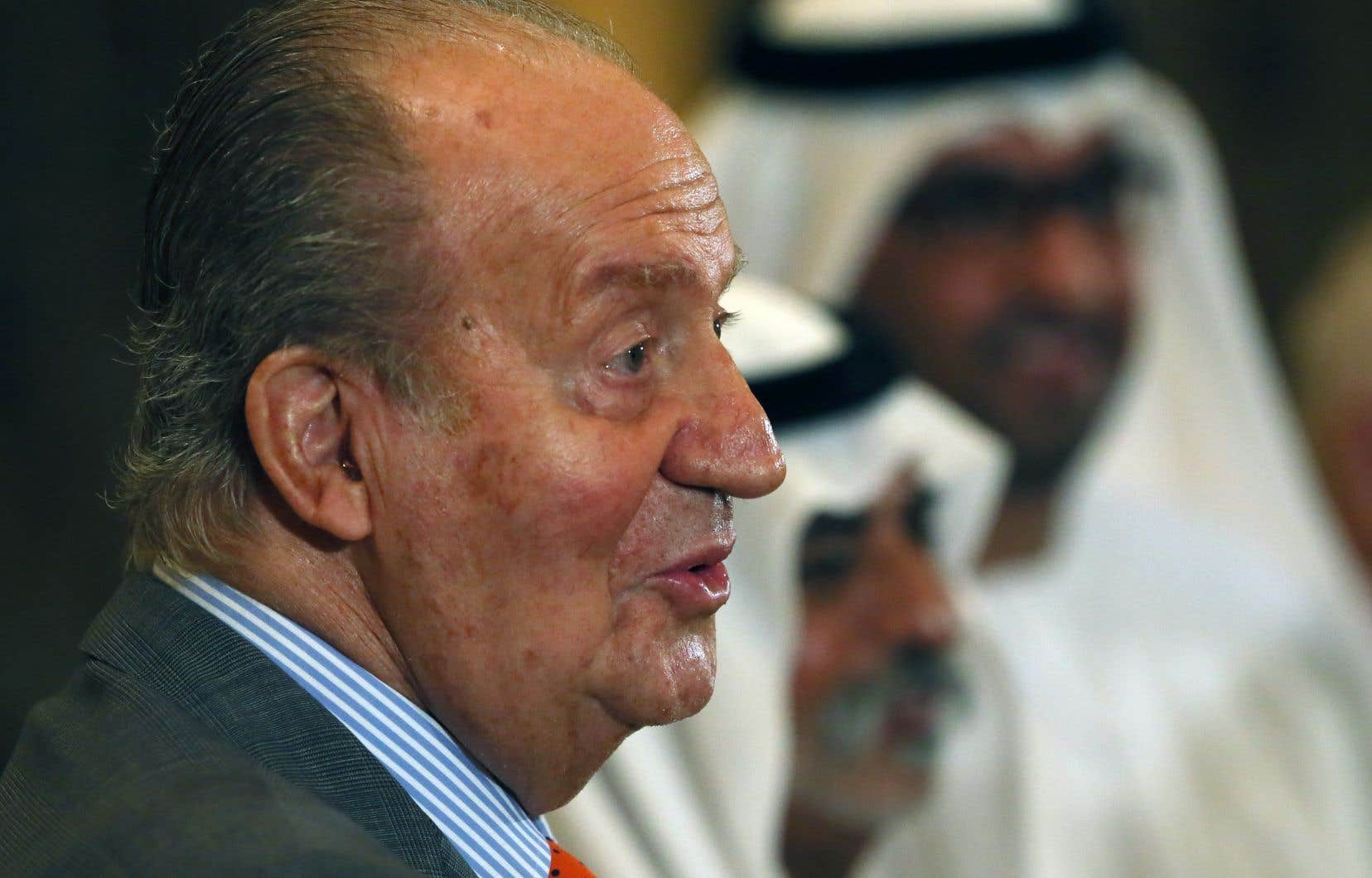 L'ex-roi d'Espagne Juan Carlos lors d'une visite officielle aux Émirats arabes unis, en 2014