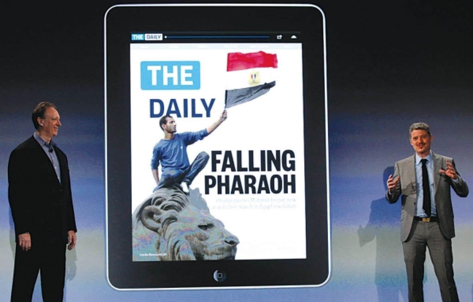 Le journal expérimental, appelé The Daily, a été publié pour la première fois hier.