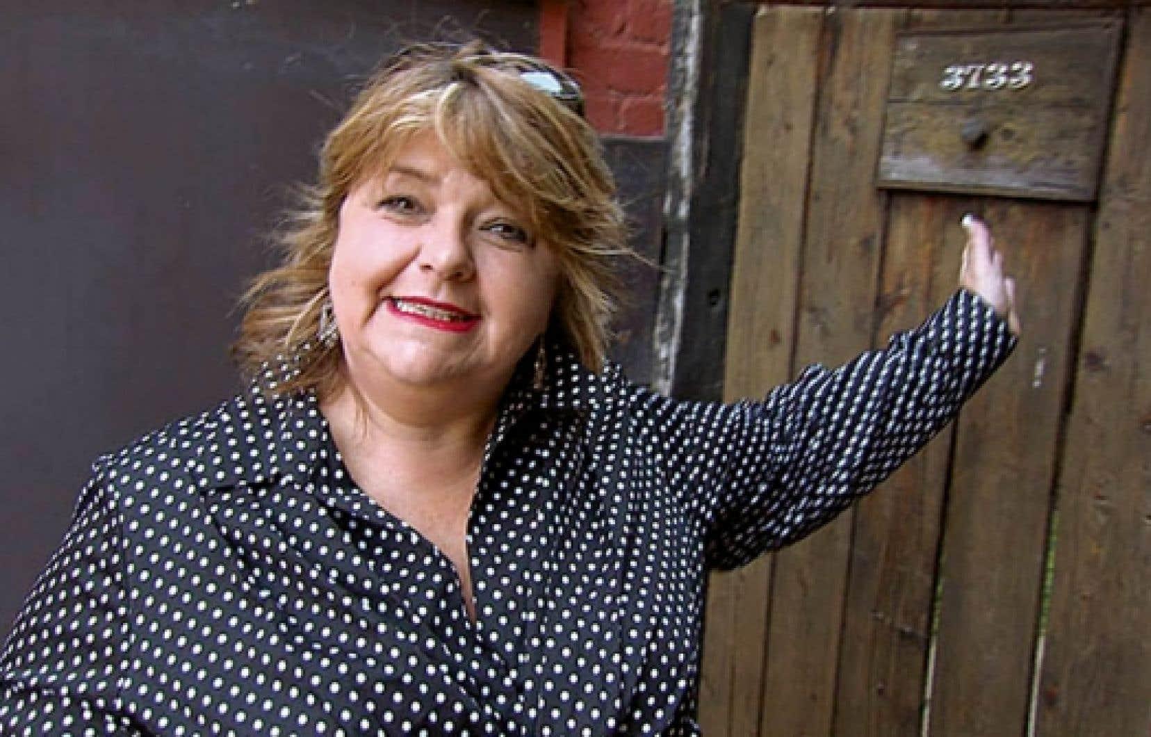 Lise Dion, l'humoriste devenue écrivaine.<br />