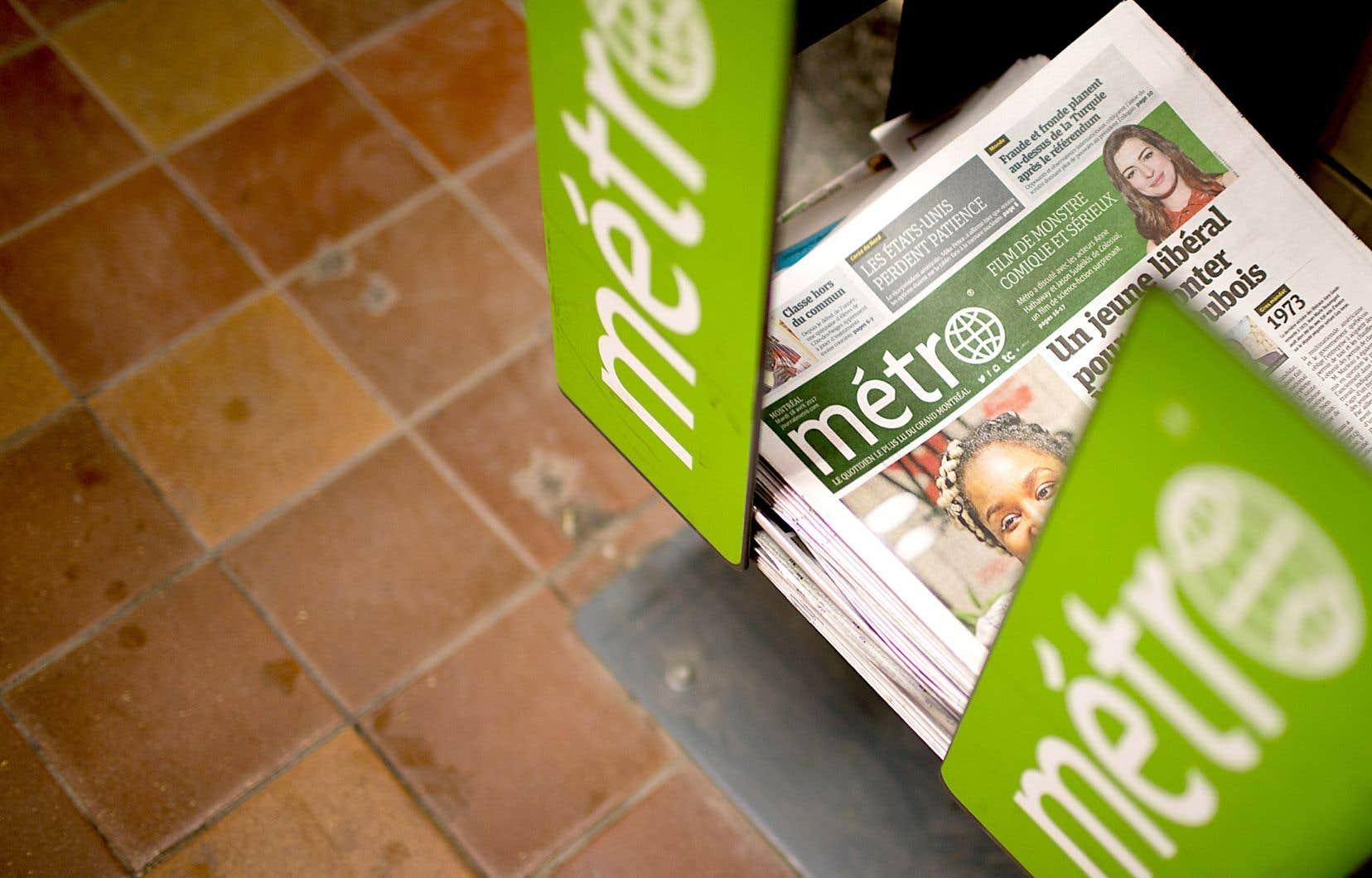 Jusqu'à nouvel ordre, «Métro» sera publié les mercredis et les vendredis, cette dernière journée permettant au journal de publier une édition plus axée sur la culture et les sorties, et qui pourra être d'actualité pendant trois jours.