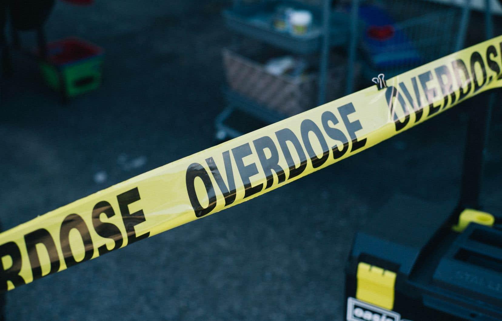 Une installation pour laJournée internationale de la sensibilisation aux surdoses