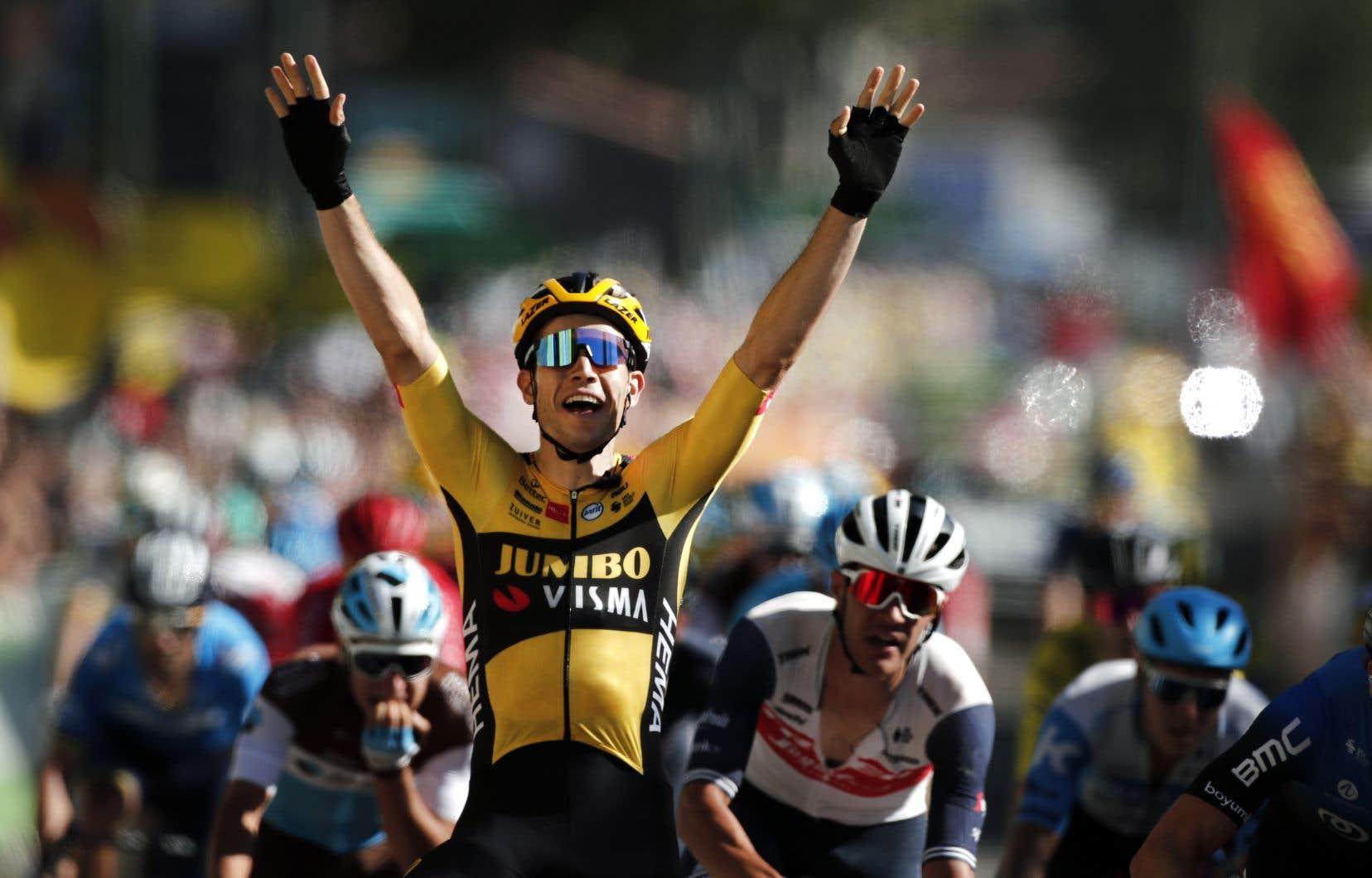 Le Belge Wout Van Aert a remporté vendredi la septième étape, sa deuxième victoire de la présente Grande Boucle.