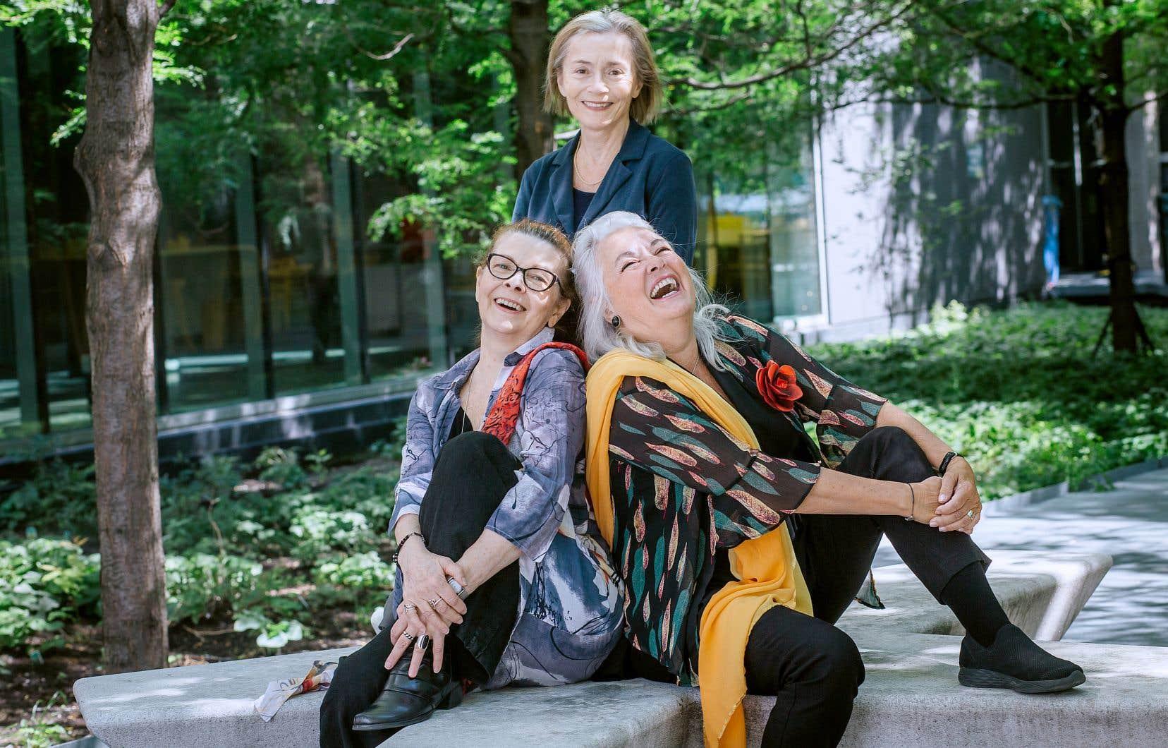 De gauche à droite, les trois amies Marie-Lou Dion, Christiane Pasquier et Louise Portal.