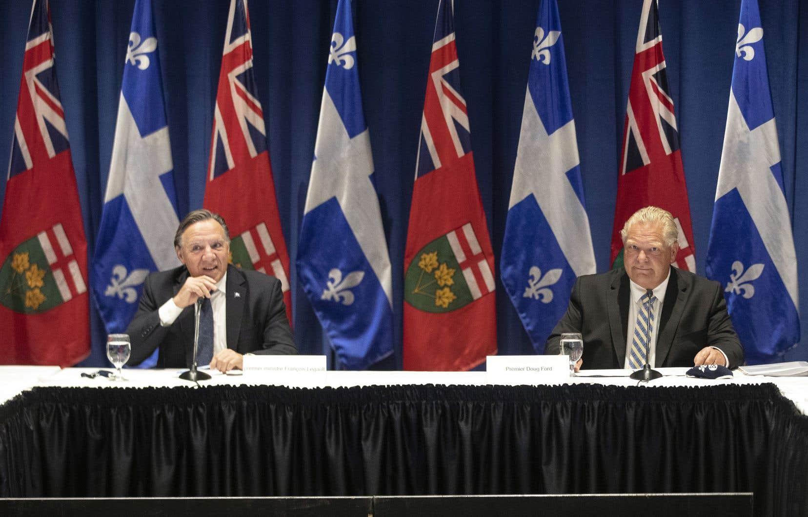 L'Ontario et le Québec sont deux provinces «plus près l'une de l'autre que jamais», a commenté le premier ministre ontarien Doug Ford.