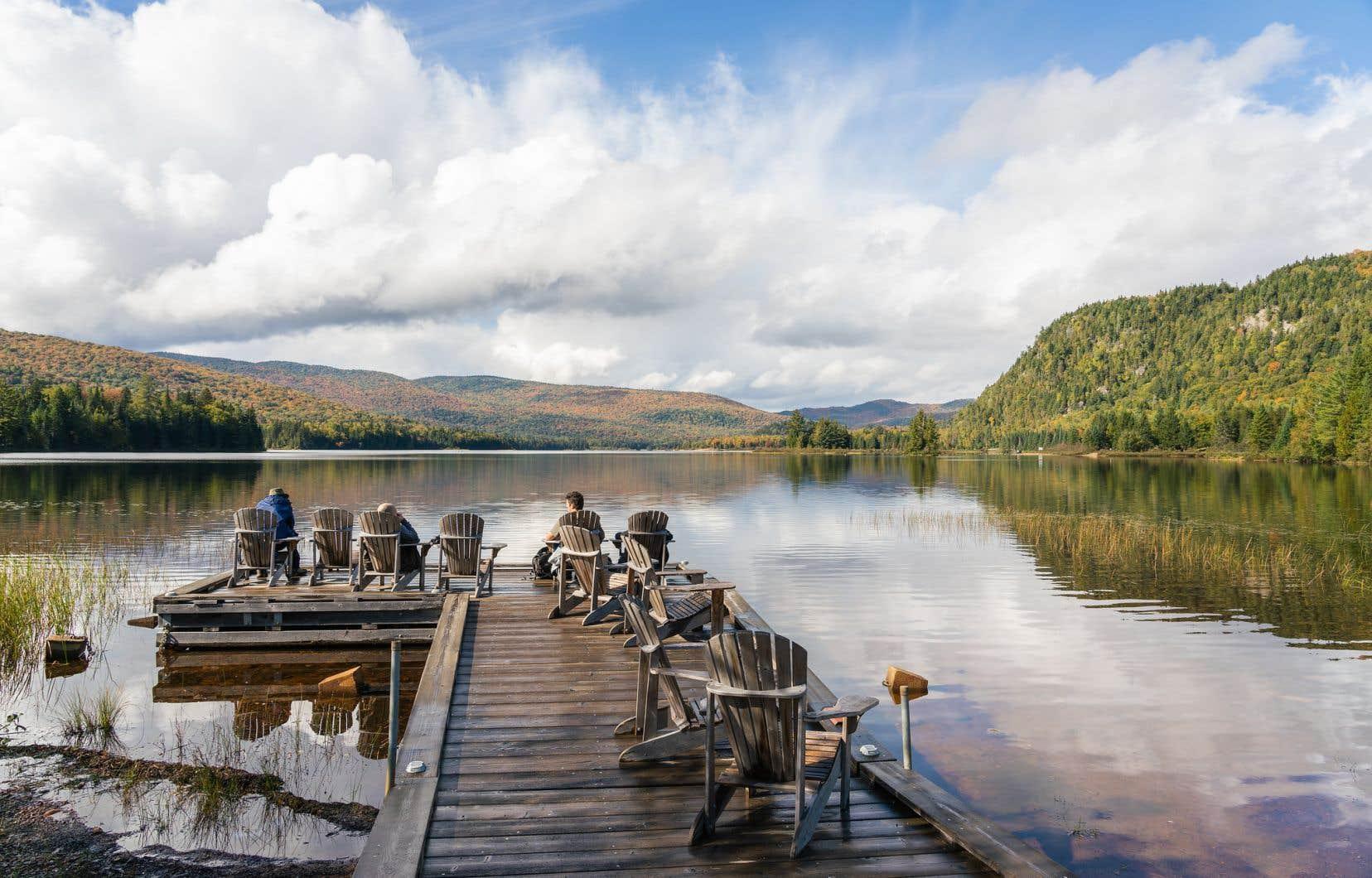 Le lac Monroe, au parc national du Mont-Tremblant