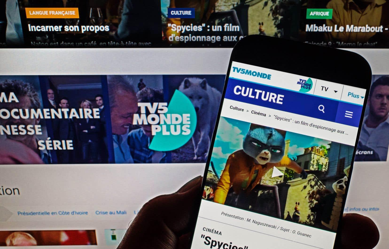 Au Canada, l'interface de la plateforme de TV5MondePlus ne sera pas directement accessible, mais les contenus seront accessibles en passant par deux sites liés à TV5.
