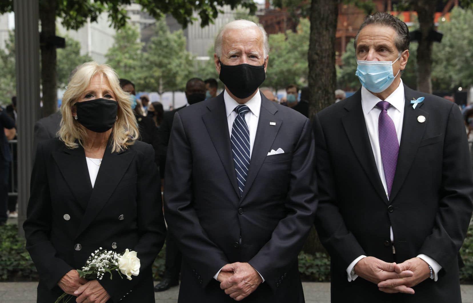 Joe Biden s'est rendu sur le site de «Ground Zero» à New York, en compagnie du gouverneur démocrate Andrew Cuomo.