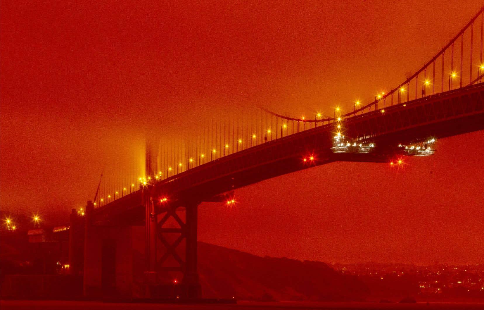 À l'instar du pont Golden Gate, San Francisco toute entière semblait plongée cette semaine dans l'ambiance étouffante du film d'anticipation «Blade Runner 2049», du cinéaste québécois Denis Villeneuve.