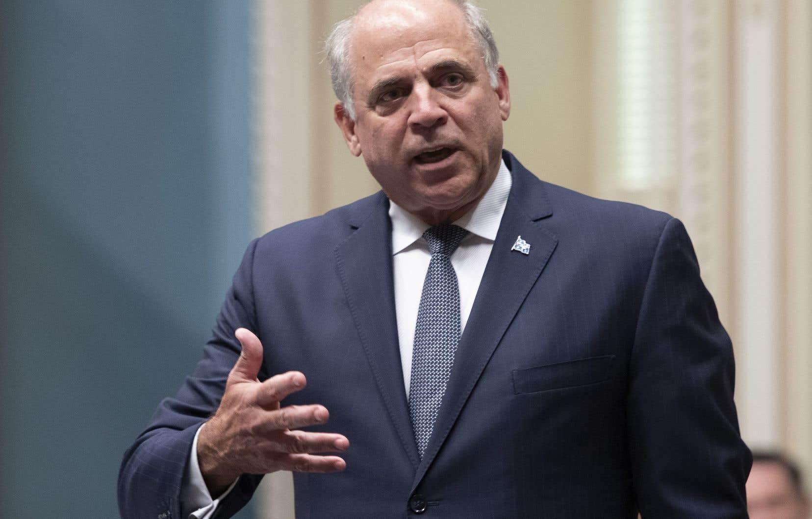Le ministre québécois de l'Économie, Pierre Fitzgibbon