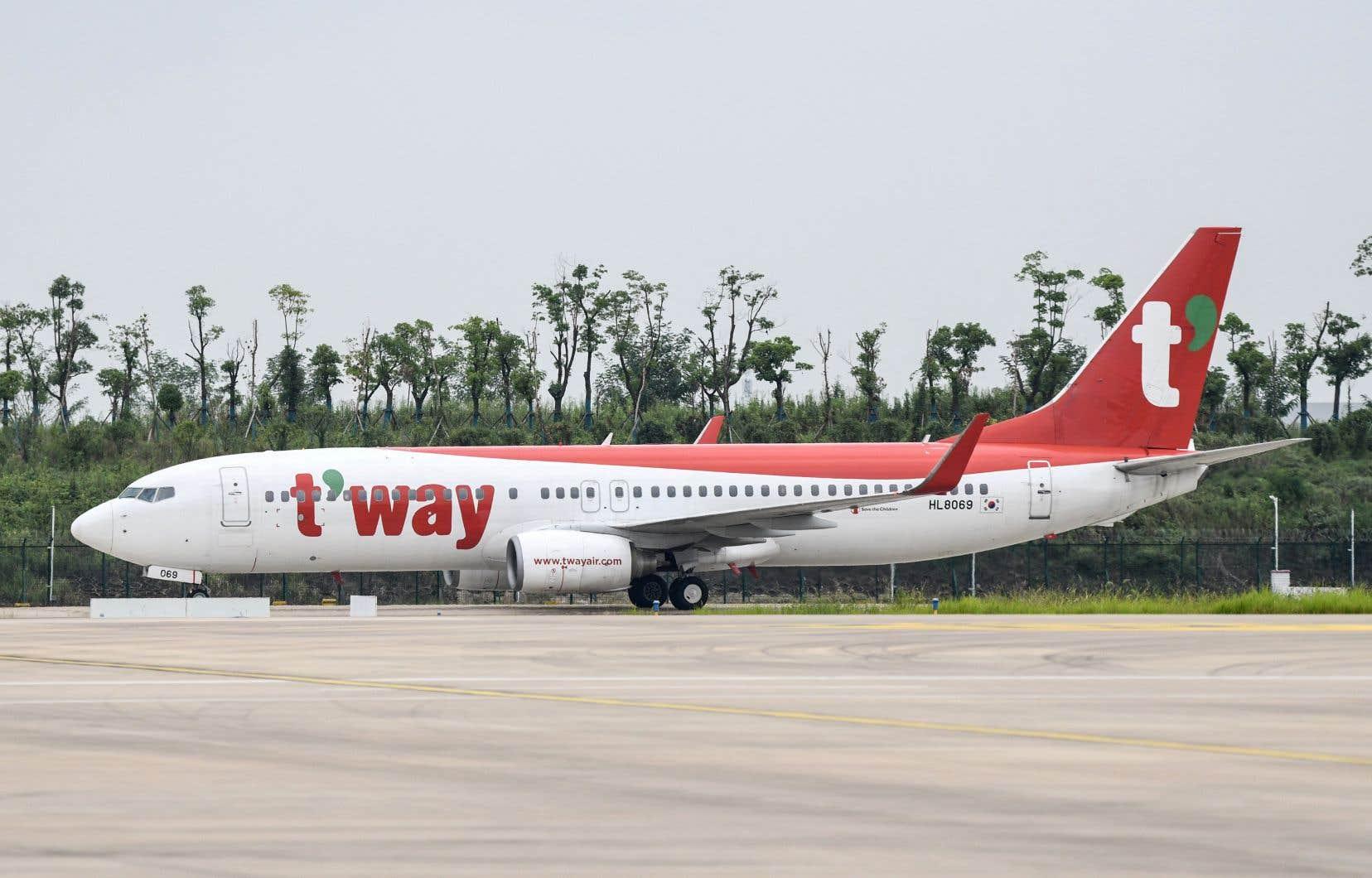 <p>Un avion de la compagnie sud-coréenne à bas prix T'way a atterri mercredi à l'aéroport international Tianhe de Wuhan avec à son bord 60 passagers, a indiqué la télévision publique CCTV.</p>