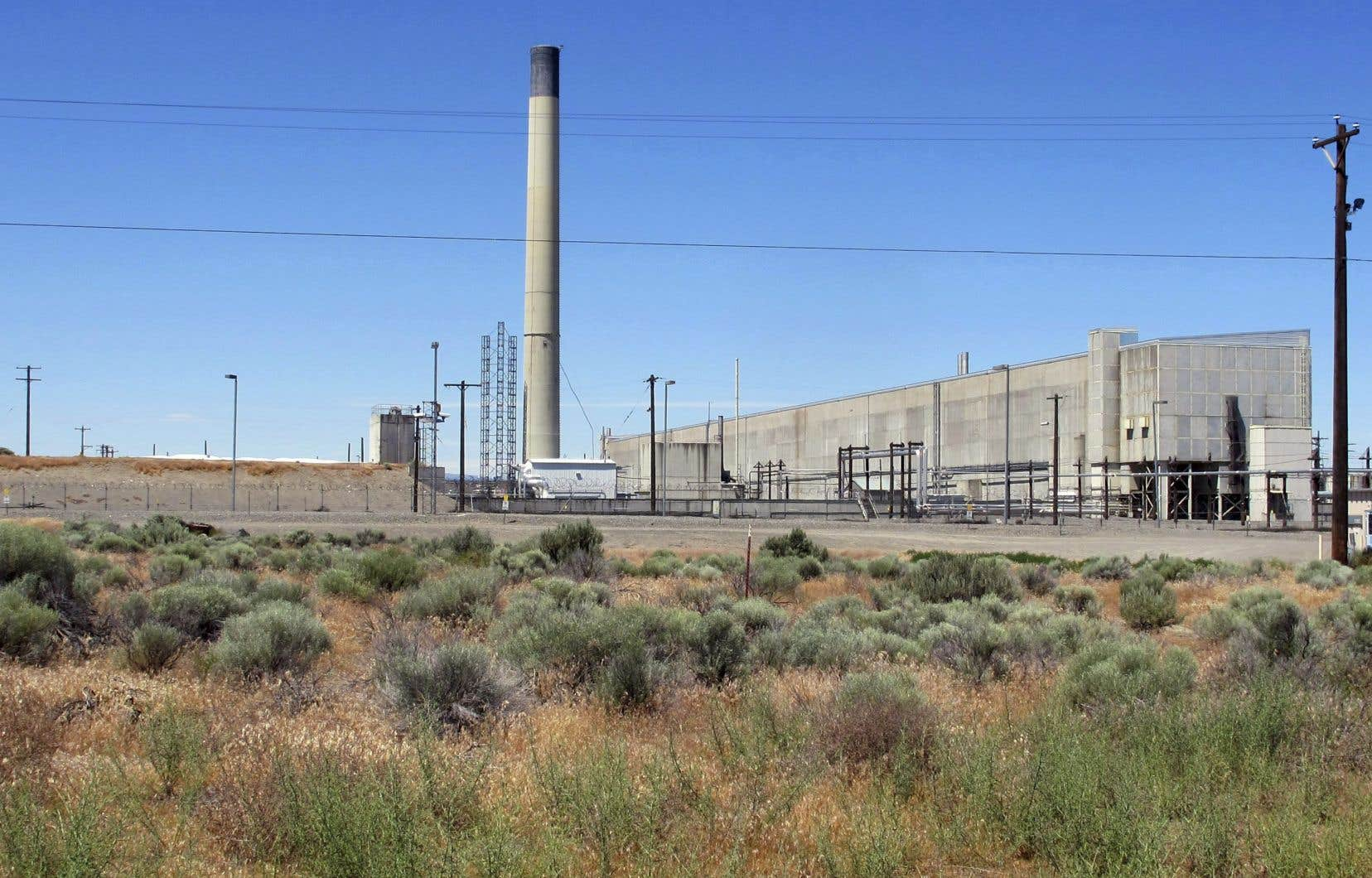 Une portion du complexe nucléaire de Hanford, dans l'État de Washington